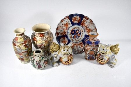 A small collection on 19th century and later Chinese and Japanese ceramics