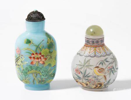 LOT 2 GLAS-SNUFF BOTTLES