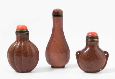 LOT 3 SNUFF BOTTLES
