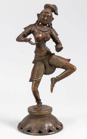 Hinduistische Tempeltänzerin / A Hindu temple dancer, Indien, 19. Jh.