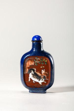 Chinese Polychrome Zisha Snuff Bottle