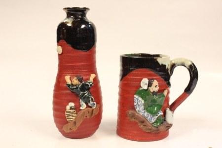 Two Japanese Sumida Mugs