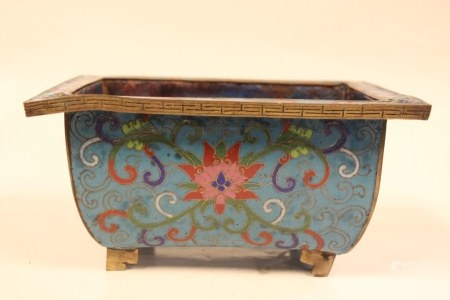 Chinese Cloisonne Planter