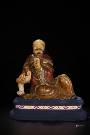 Chiinese Soapstone Carved Luohan