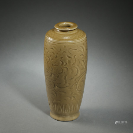 CHINESE NORTHERN SONG DYNASTY YAOZHOU KILN PLUM BOTTLE