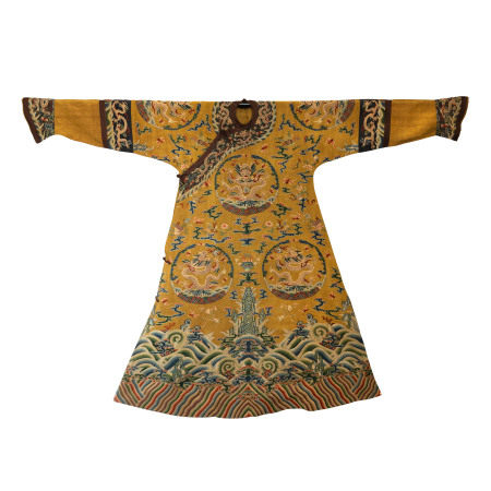 QING DYNASTY, CHINESE KESI DRAGON ROBE