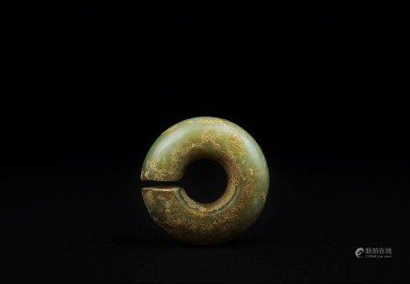 新石器時代 紅山黃玉玦