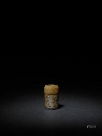 新石器時代 良渚獸面玉勒