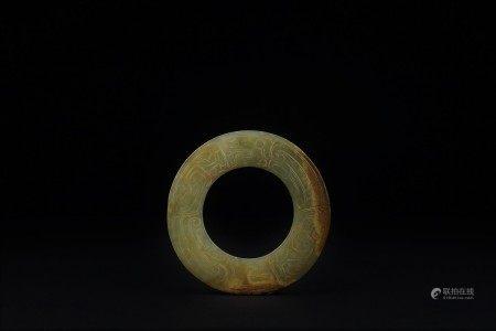 西周 龍鳳紋環