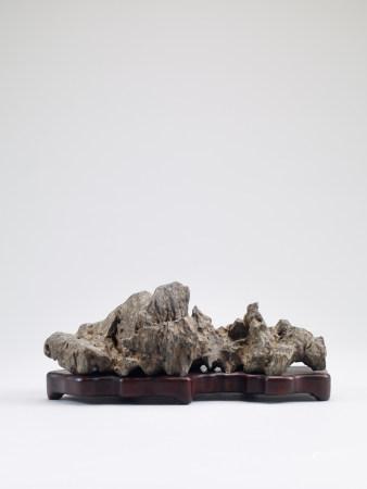 清 靈璧石供