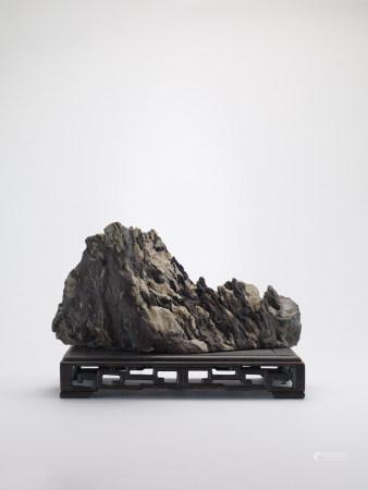 現代 紫晃石(遠山雪景)