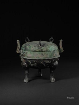戰-漢 青銅蓋鼎