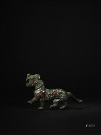 戰國-漢 青銅錯金銀虎形帶鉤