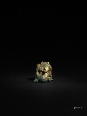 戰國-漢 銅鎏金熊鎮