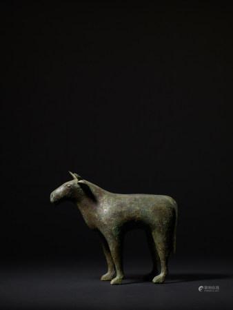 六朝 青銅牛