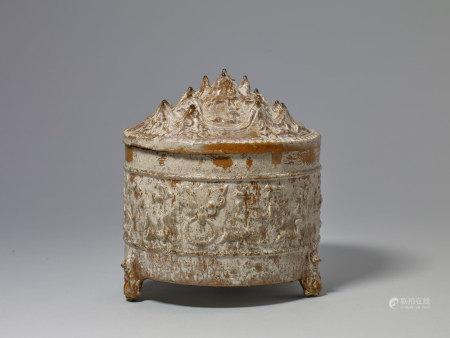 漢 褐釉博山爐