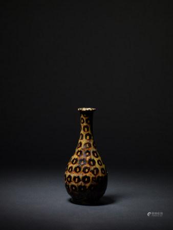 宋 吉州窯豹紋長頸瓶