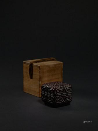 宋-元 剔犀倭角香盒