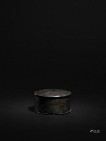 清 錫製圓形香盒