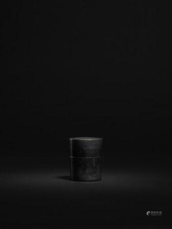 清 錫製小直筒形茶葉罐