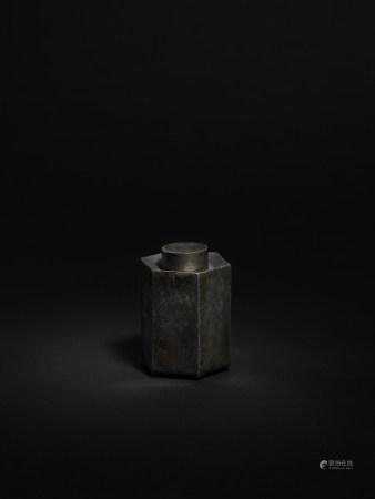 清 錫製六邊形錫罐