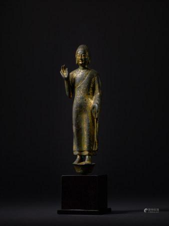 北齊 銅鎏金佛立像