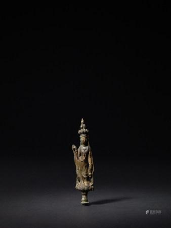 唐 銅鎏金十一面觀音立像