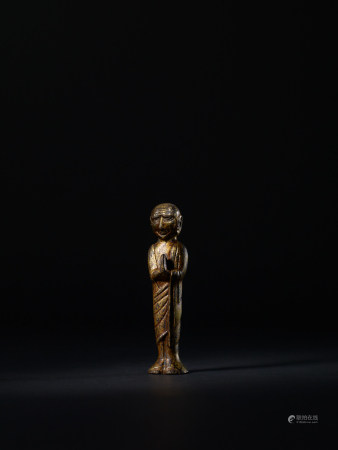 唐 銅漆金迦葉像