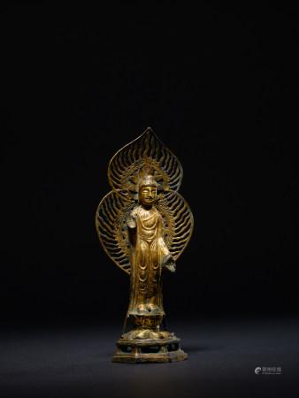 東魏 銅鎏金釋迦牟尼像