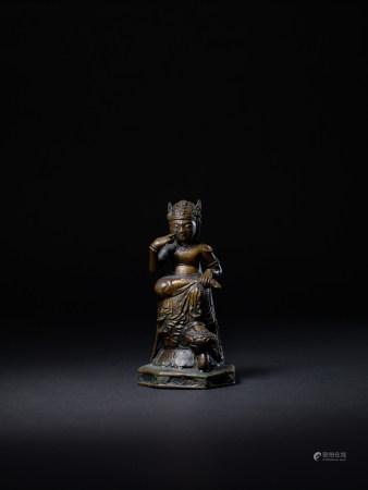 明 銅思維菩薩像