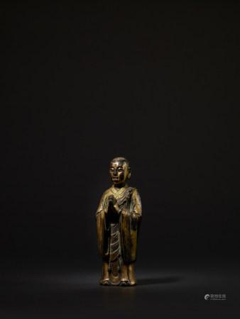 元 銅鎏金羅漢