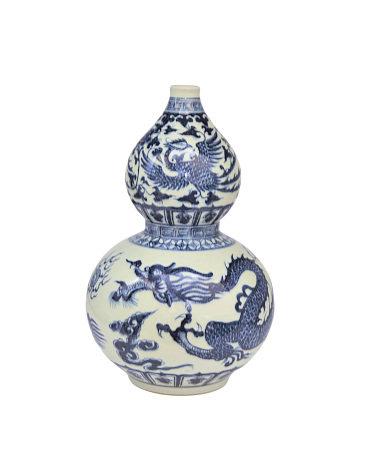 70年代  青花龍紋葫蘆瓶