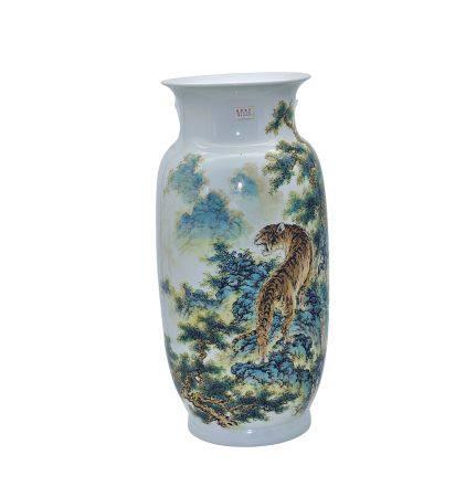 徐天梅(陶瓷美術家) 粉彩威震山嶽瓶