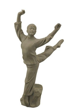 龐文忠(國大師)  石灣窯白毛女瓷塑
