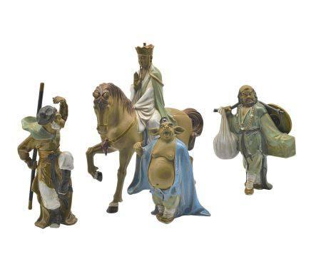 劉澤棉(國大師)  西遊記人物瓷塑一套四件