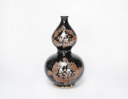 磁州窯畫花葫蘆瓶
