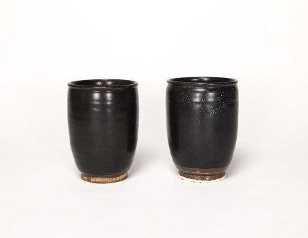 宋代-吉州窯筒式杯一對