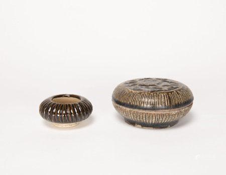 元代-吉州窯小粉盒、                          元代-吉州窯小罐