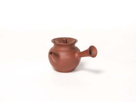 民國-「宜興紫砂」款側把壺