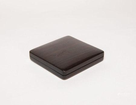 清代-紅木印泥盒