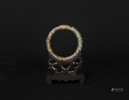 宋元時期-刻螭紋玉鐲