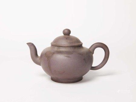 清代-「朱元熙制」款紫砂大壺