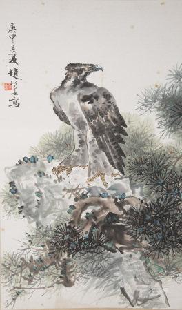 趙松泉  畫鷹
