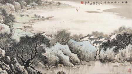 宋文治  太湖之濱