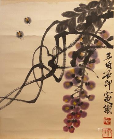 齊白石 葡萄