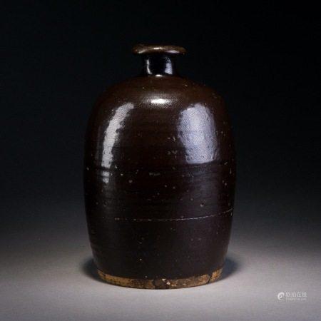 宋 黑釉小口瓶