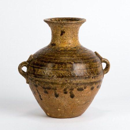 原始瓷雙繫罐