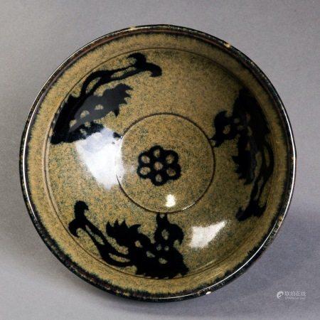 吉州窯剪紙貼花碗