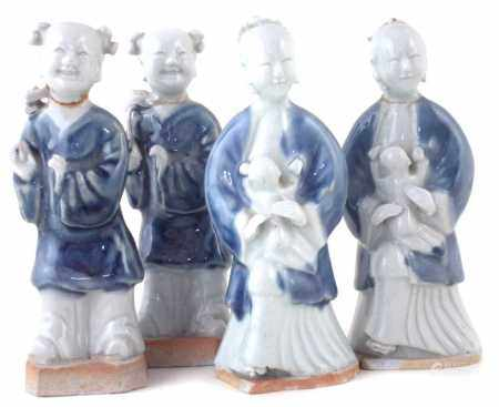 Set of four Chinese export porcelain figures