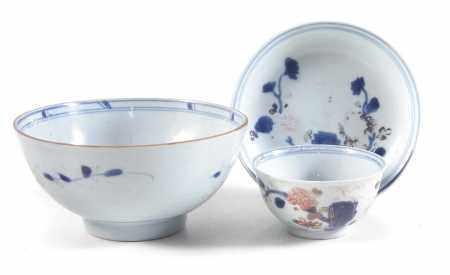Chinese Nanking Cargo bowl and teabowl and saucer